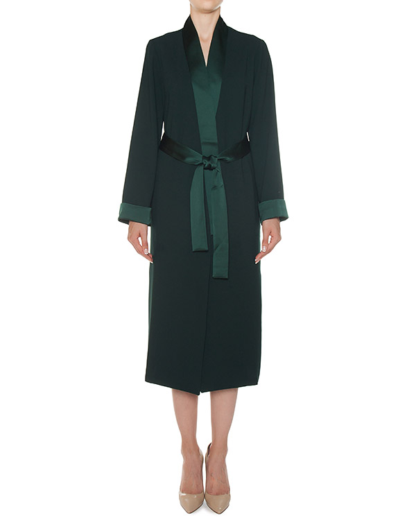 кимоно из крепа изумрудного оттенка артикул POSEIDON430123 марки P.A.R.O.S.H. купить за 31400 руб.