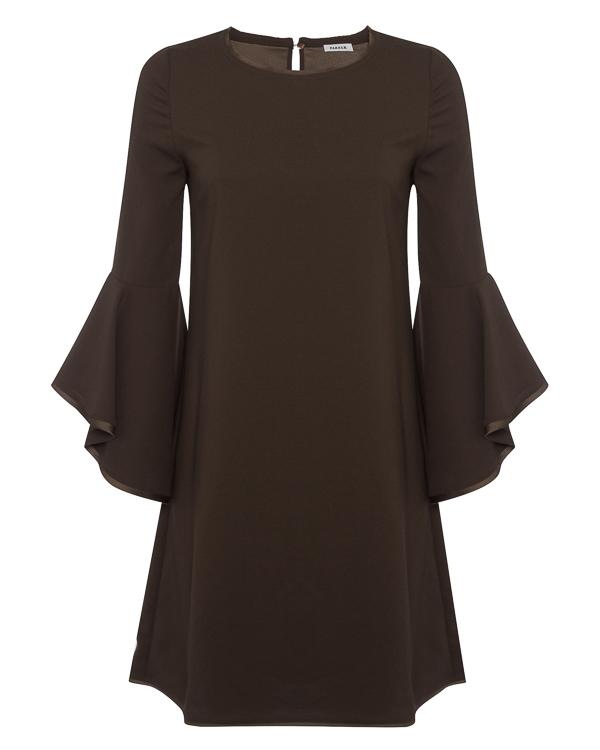 платье  мини с воланами на рукавах артикул POSEIDON721424 марки P.A.R.O.S.H. купить за 24200 руб.