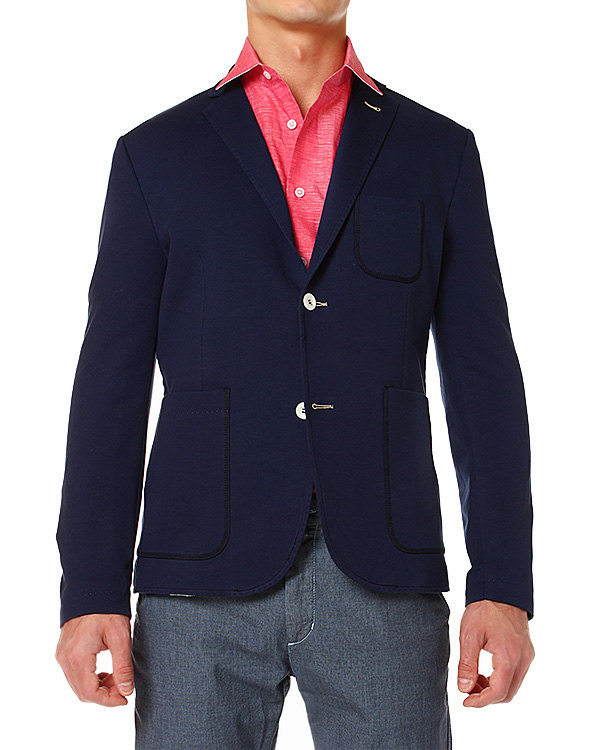 мужская пиджак PAOLO PECORA, сезон: лето 2014. Купить за 11100 руб. | Фото 1
