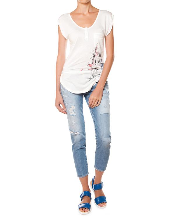 женская футболка (+)People, сезон: лето 2015. Купить за 3600 руб. | Фото 2