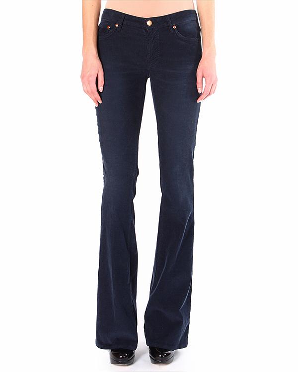 джинсы расклешенные от колена, обработанные