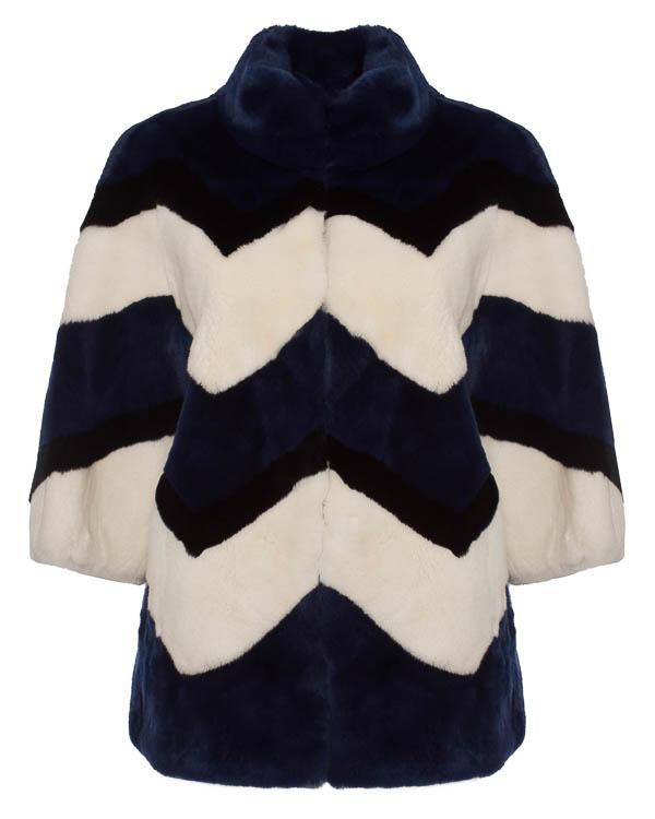 мех.пальто из меха кролика с ярким геометрическим узором артикул QUERIDA470503 марки P.A.R.O.S.H. купить за 61100 руб.