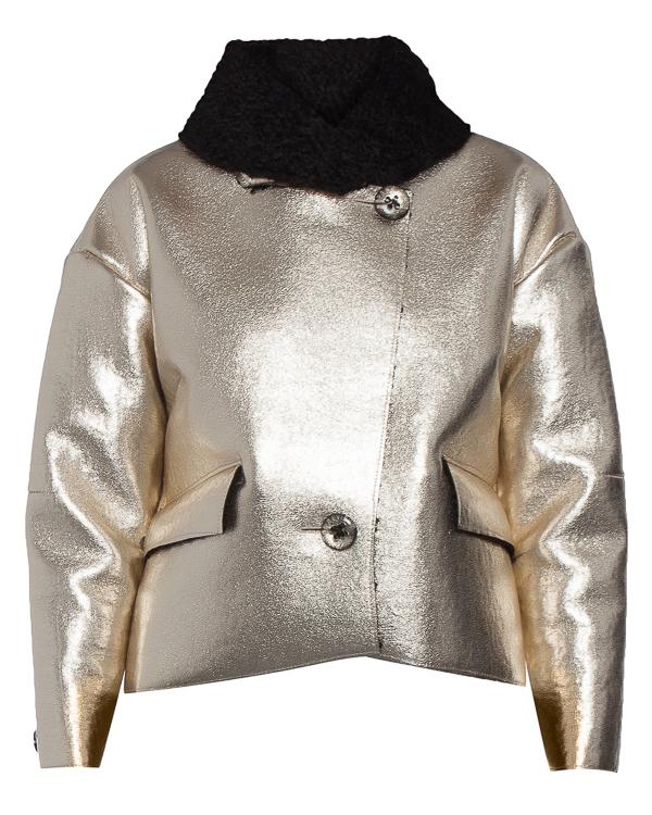 куртка из экокожи с декоративным мехом артикул R007 марки 5Preview купить за 16300 руб.