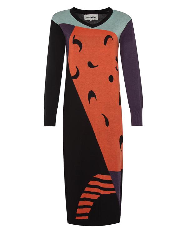 платье миди с ярким принтом артикул R056 марки 5Preview купить за 10600 руб.