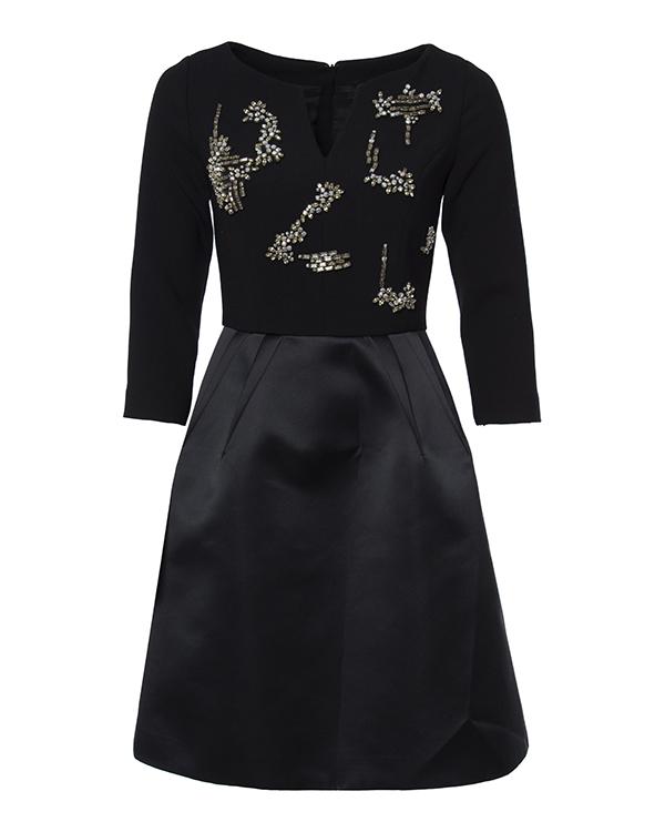 платье приталенного силуэта с отделкой крупными кристаллами артикул R205 марки Dice Kayek купить за 119300 руб.