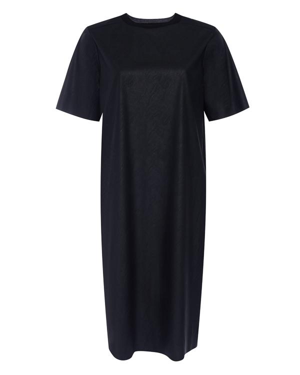 платье прямого силуэта из экокожи артикул R208 марки 5Preview купить за 15000 руб.