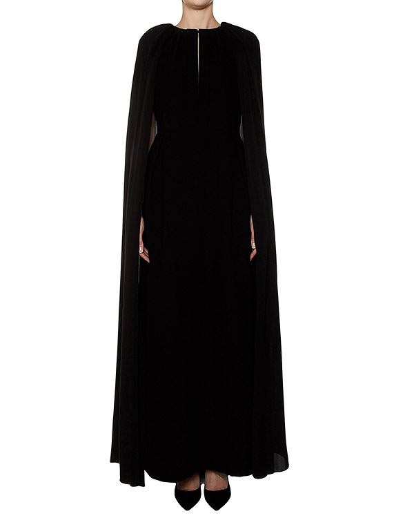 платье в пол из плотного шелка со шлейфом артикул R249 марки Dice Kayek купить за 170700 руб.