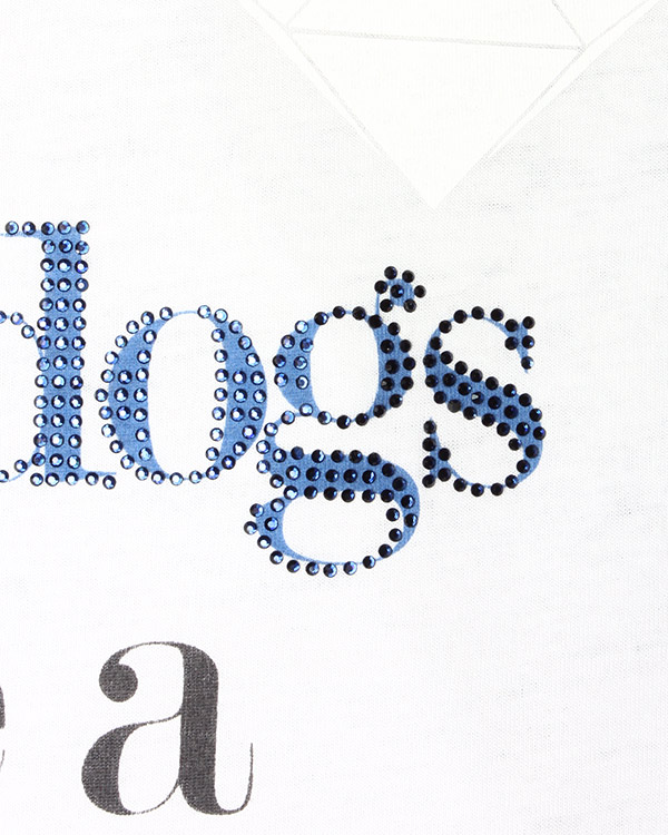 женская футболка EMPORIO ARMANI, сезон: лето 2015. Купить за 7000 руб. | Фото 4