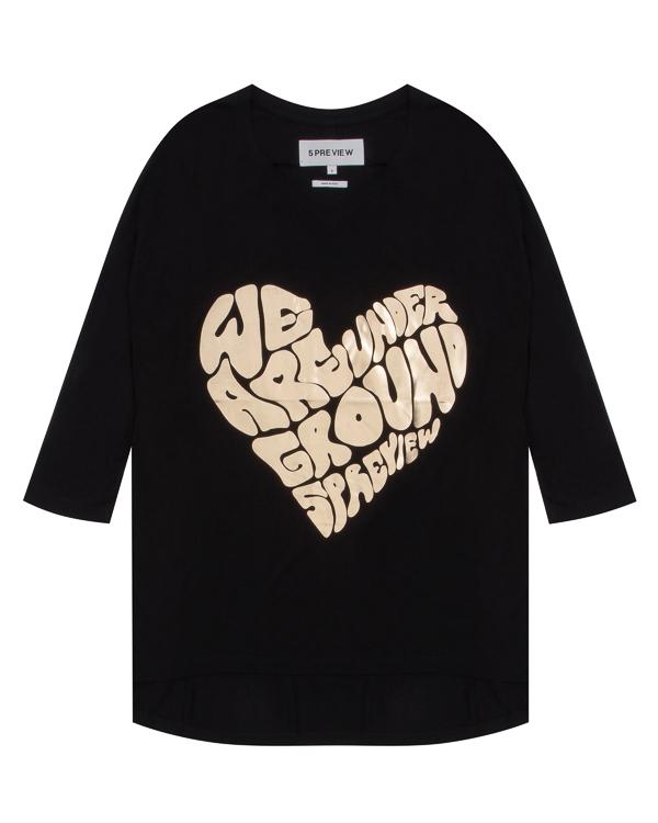 футболка из трикотажной вискозы с принтом артикул R420 марки 5Preview купить за 9800 руб.