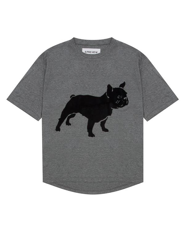 футболка из трикотажной вискозы с принтом артикул R422 марки 5Preview купить за 8100 руб.