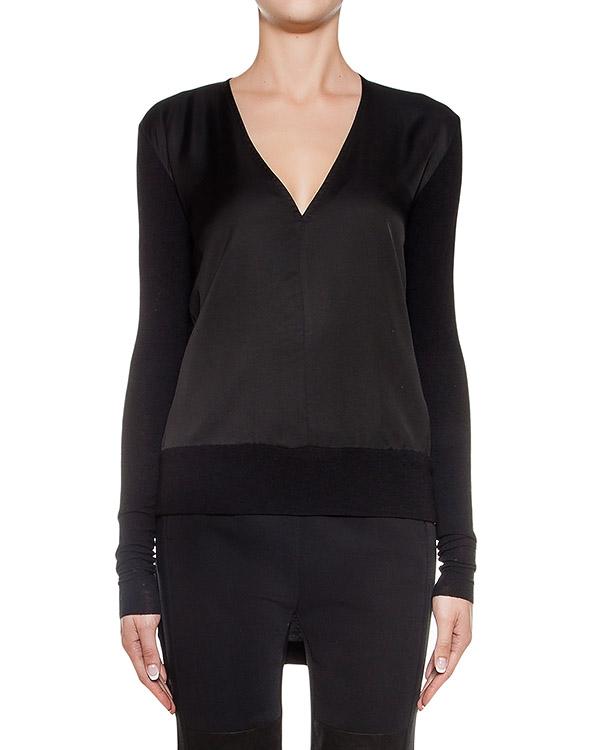 пуловер из полушерстяного трикотажа со вставками из легкой ткани артикул REMX463-10 марки ROQUE ILARIA NISTRI купить за 9200 руб.