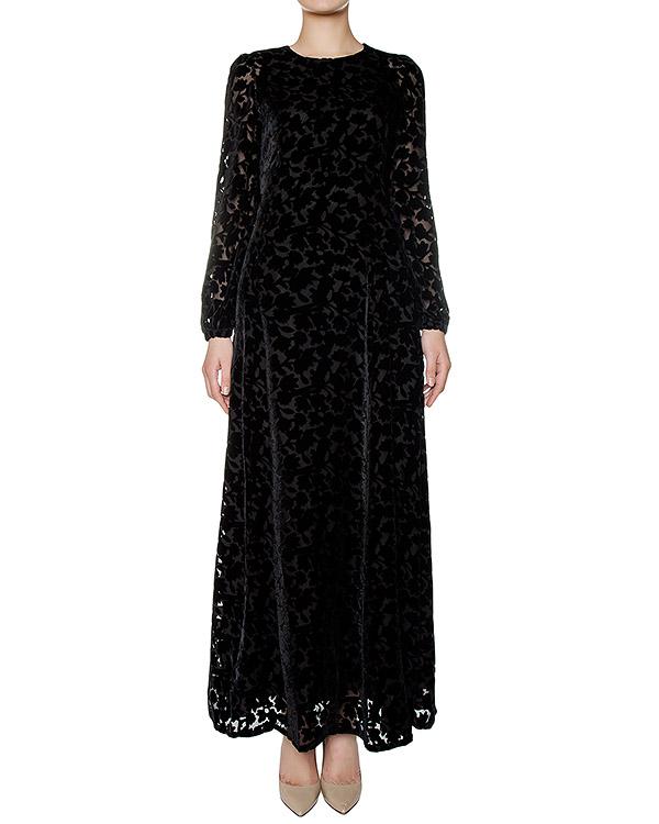 платье в пол из плотной ткани с узором из бархата артикул ROBYN721057 марки P.A.R.O.S.H. купить за 31300 руб.