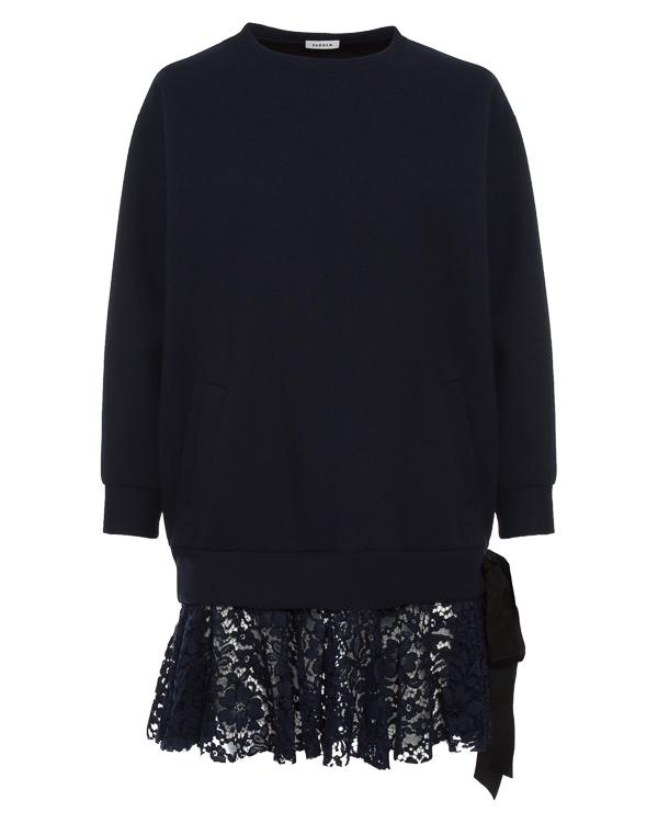 платье мини объемного силуэта с отделкой кружевом артикул RYANY310393 марки P.A.R.O.S.H. купить за 27400 руб.