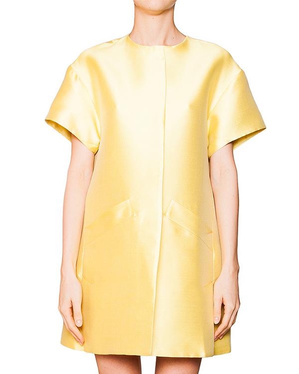 пальто свободного кроя из плотной фактурной ткани с шелком артикул S16JJK606UNI марки SI-JAY купить за 14600 руб.