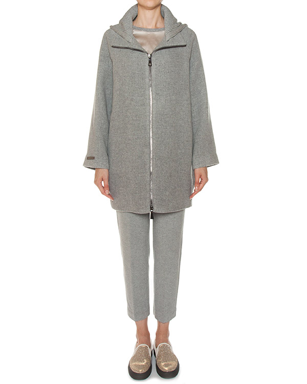 пальто из тонкой шерсти с капюшоном артикул S20419 марки Peserico купить за 67100 руб.