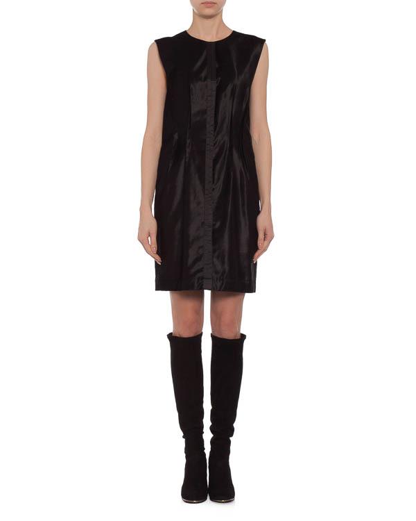 платье с лаконичной вертикальной аппликацией спереди артикул S32CT0619 марки MM6 Martin Margiela купить за 12500 руб.