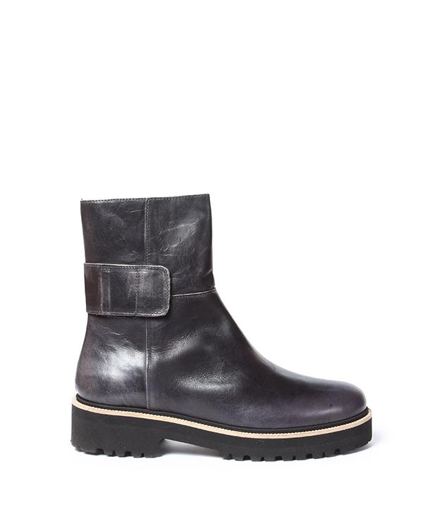 ботинки из натуральной кожи с функциональным ремешком на толстой тракторной подошве артикул S40WU0076 марки MM6 Martin Margiela купить за 19500 руб.
