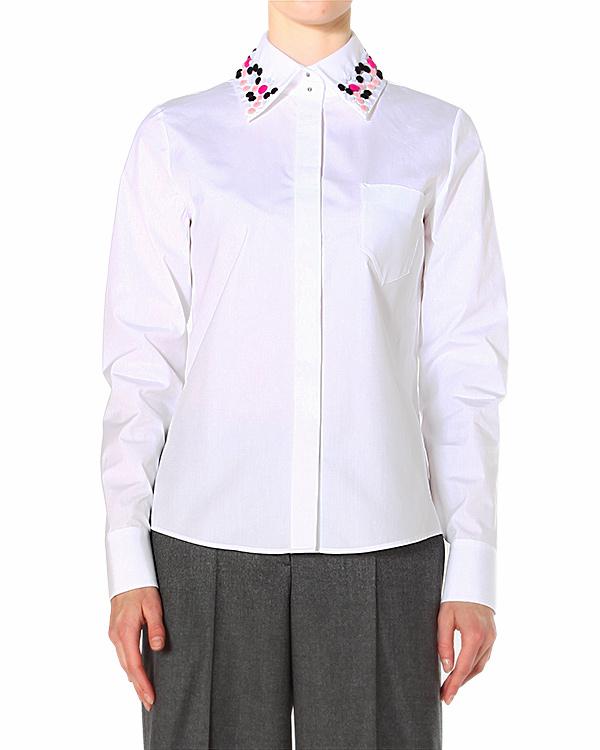 рубашка с объемной яркой аппликацией на вороте артикул S45DL0104 марки VIKTOR & ROLF купить за 26800 руб.