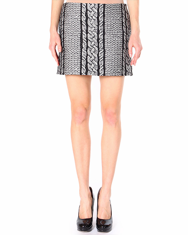 юбка mini с принтом, имитирующим вязанный узор артикул S45MA0093-S43355 марки VIKTOR & ROLF купить за 16100 руб.