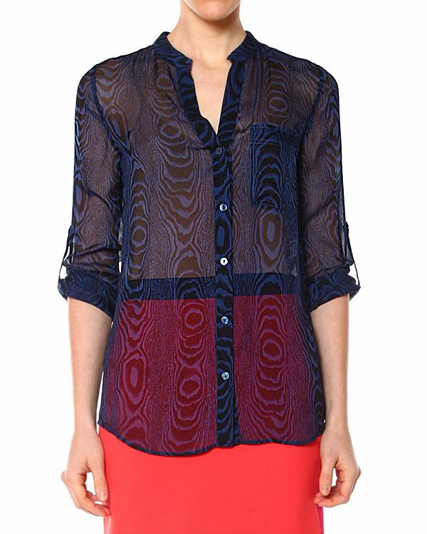 блуза из полупрозрачного шелка артикул S652202 марки DIANE von FURSTENBERG купить за 10200 руб.