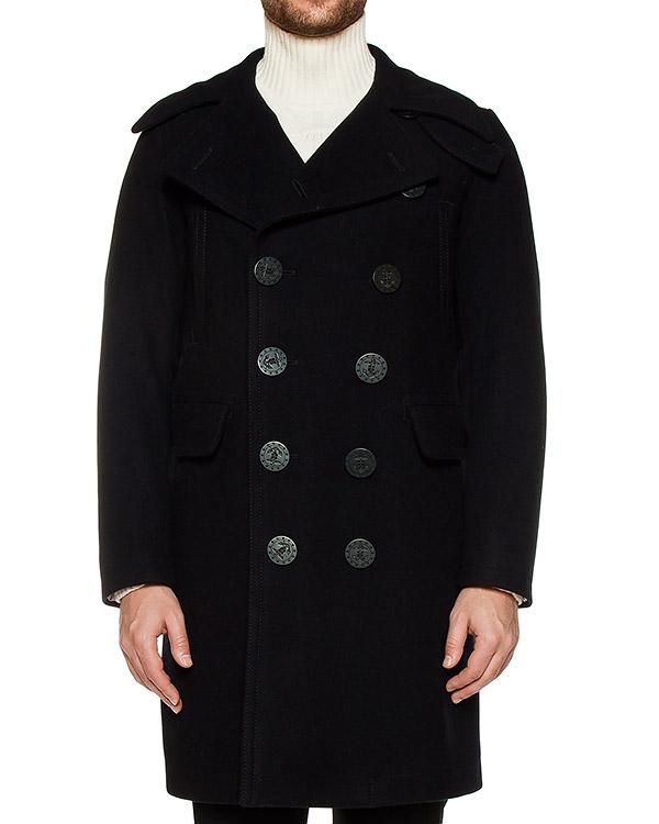 пальто прямого кроя из плотной шерсти артикул S71AA00236 марки DSQUARED купить за 67800 руб.