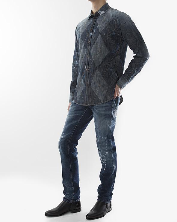 мужская рубашка DSQUARED, сезон: зима 2012/13. Купить за 10500 руб. | Фото 3
