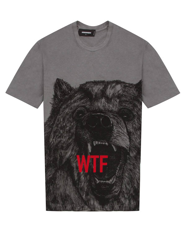 футболка из хлопка с принтом  артикул S71GD0572 марки DSQUARED2 купить за 13100 руб.