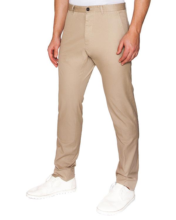 брюки прямого кроя из плотного хлопка артикул S71KA0903 марки DSQUARED2 купить за 14800 руб.