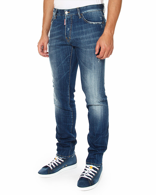 мужская джинсы DSQUARED, сезон: зима 2014/15. Купить за 12400 руб. | Фото 1