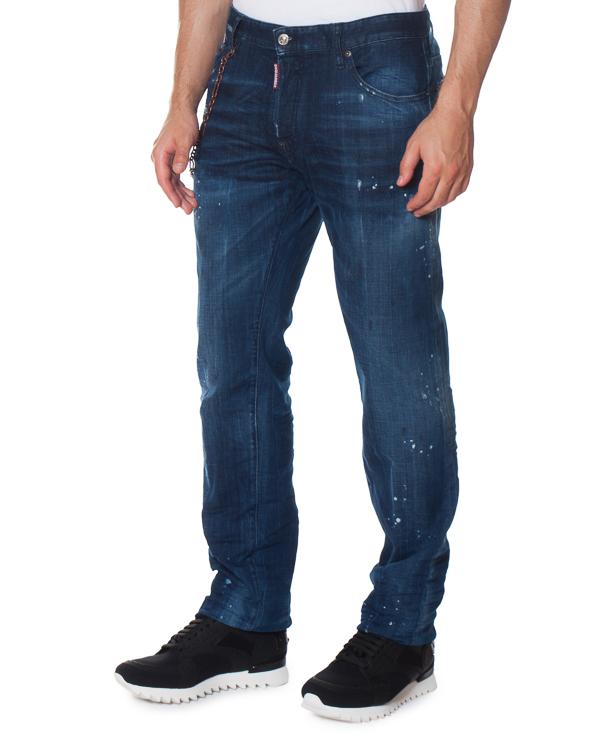 джинсы Slim с металлической цепочкой артикул S71LB0318 марки DSQUARED2 купить за 38700 руб.