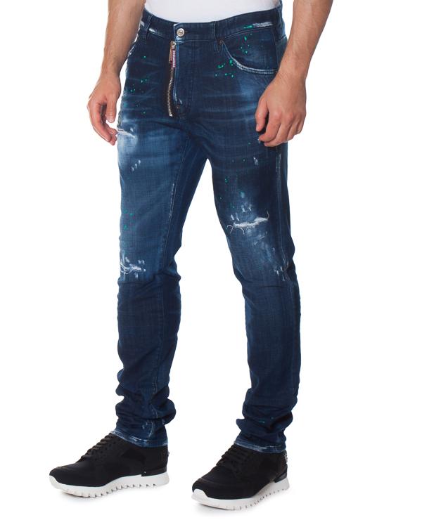 джинсы Slim с низкой посадкой на бедрах артикул S71LB0325 марки DSQUARED2 купить за 39600 руб.