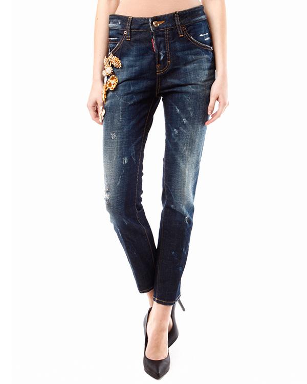 женская джинсы DSQUARED, сезон: зима 2013/14. Купить за 26500 руб. | Фото 1