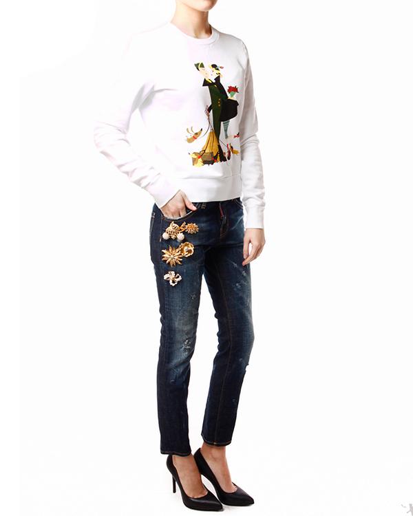 женская джинсы DSQUARED, сезон: зима 2013/14. Купить за 26500 руб. | Фото 3