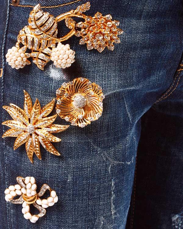 женская джинсы DSQUARED, сезон: зима 2013/14. Купить за 26500 руб. | Фото 4