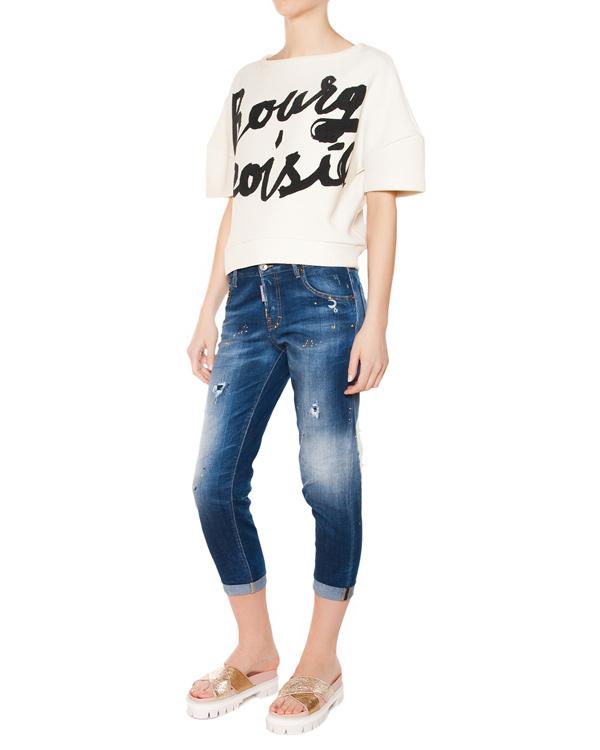 женская джинсы DSQUARED, сезон: лето 2015. Купить за 16500 руб. | Фото 3