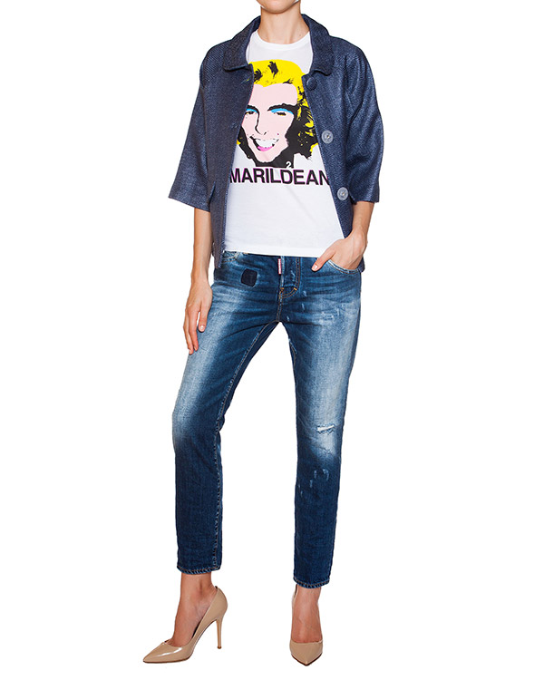 женская джинсы DSQUARED, сезон: лето 2015. Купить за 13800 руб. | Фото 3