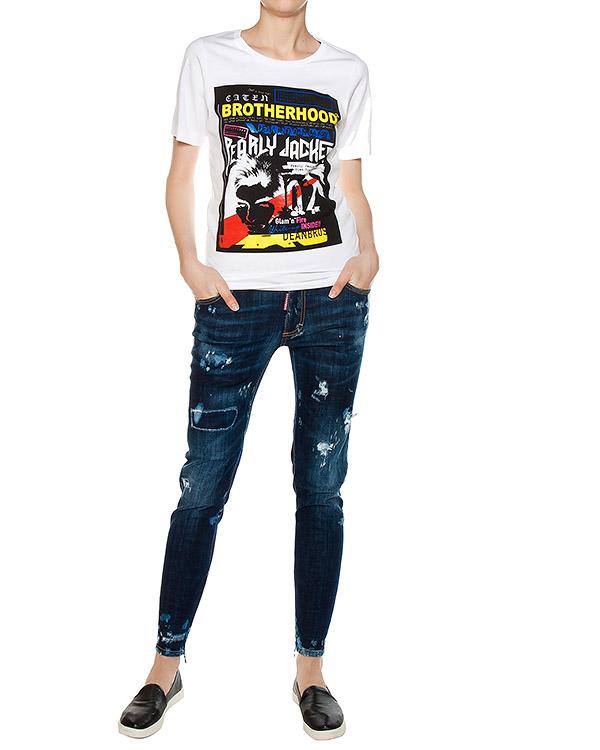 женская джинсы DSQUARED2, сезон: лето 2017. Купить за 24300 руб.   Фото $i