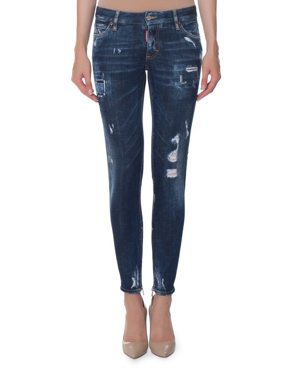 джинсы Skinny c эффектом