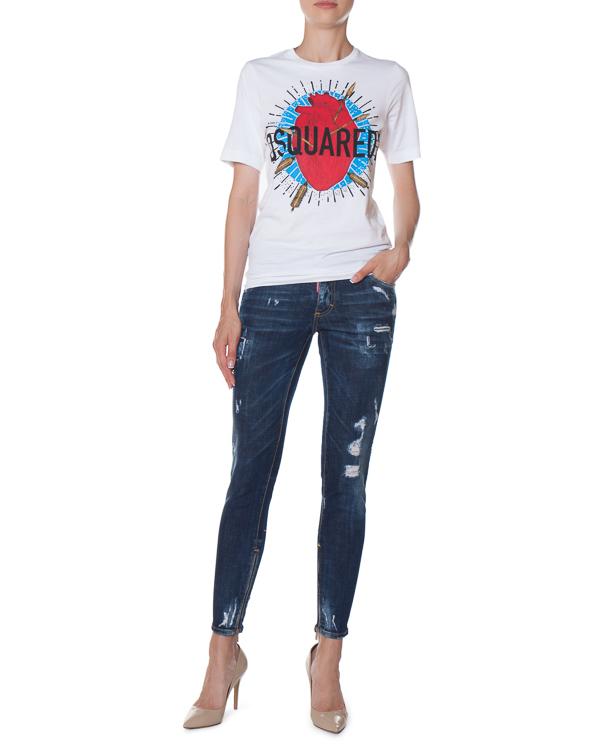 женская джинсы DSQUARED2, сезон: зима 2017/18. Купить за 31700 руб. | Фото $i