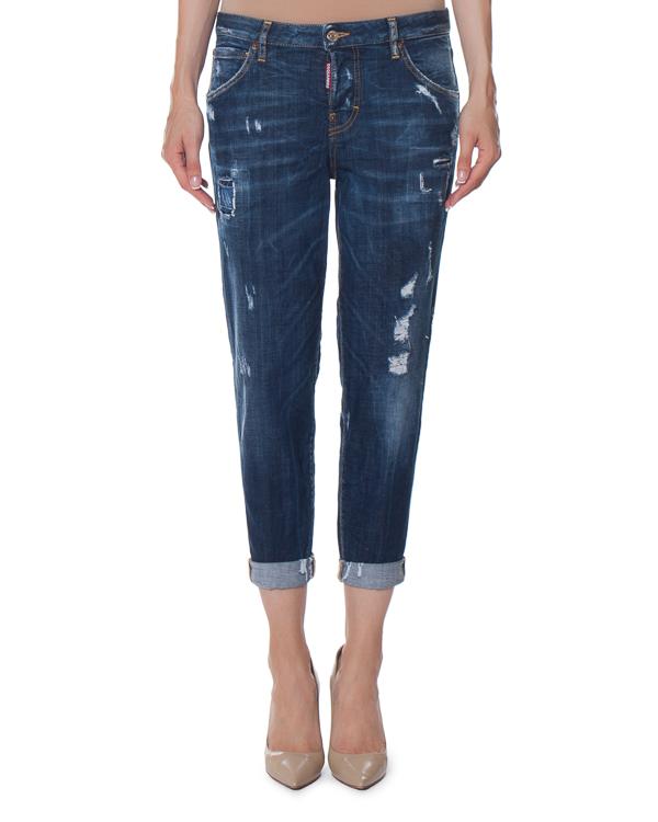 джинсы Boyfriend c эффектом