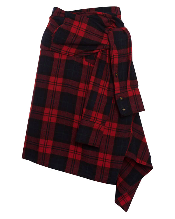 юбка из шерстяной фланели нестандартного кроя артикул S72MA0613 марки DSQUARED2 купить за 50200 руб.