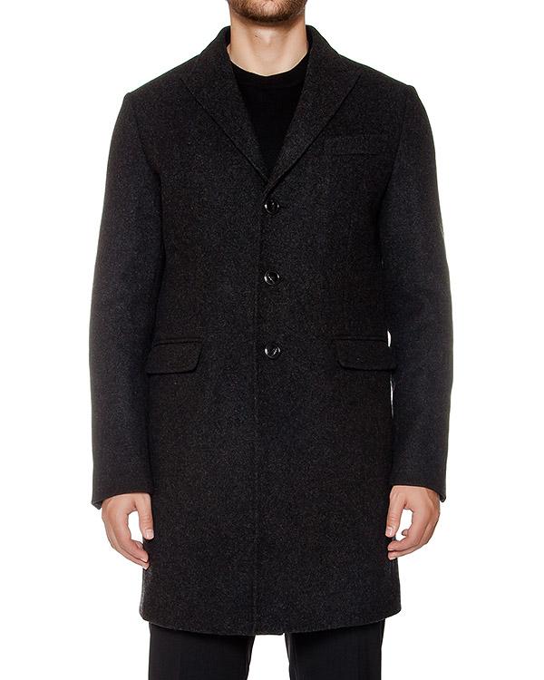 пальто прямого кроя из ворсистой вирджинской шерсти артикул S74AA0101 марки DSQUARED купить за 50600 руб.