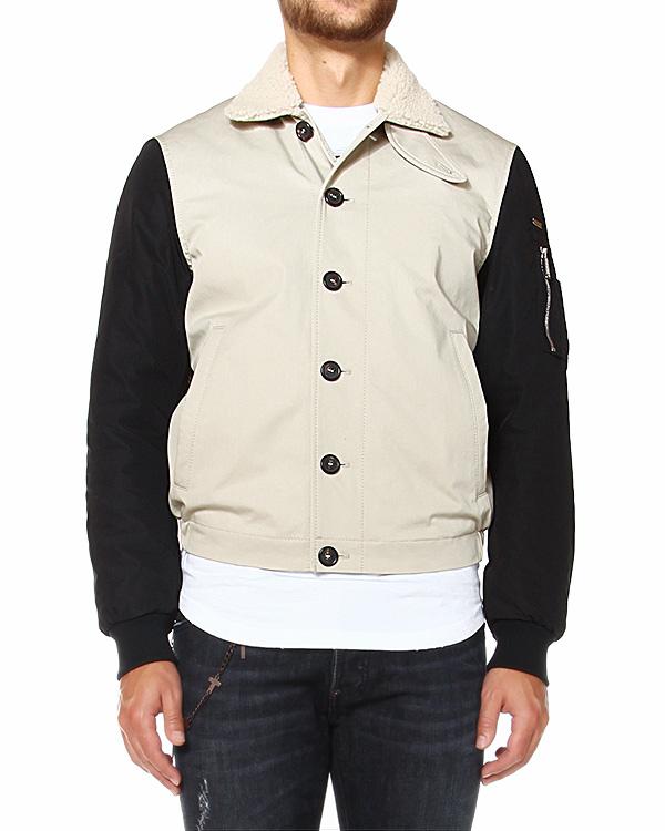 куртка бомбер с воротником из овчины артикул S74AM0457 марки DSQUARED2 купить за 34300 руб.