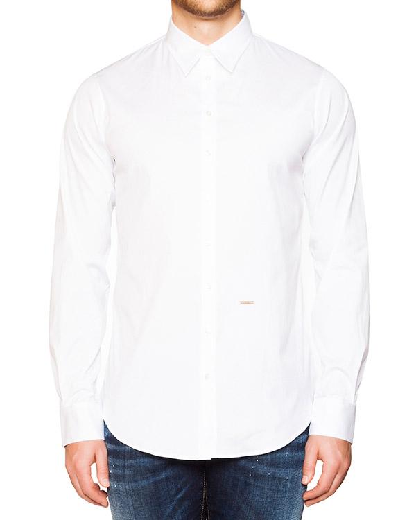 рубашка классического кроя из мягкого хлопка артикул S74DL0876 марки DSQUARED2 купить за 5800 руб.