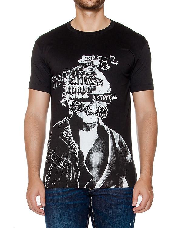 футболка из хлопкового трикотажа с принтом артикул S74GD0145 марки DSQUARED2 купить за 9200 руб.