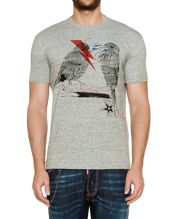 футболка  артикул S74GD0185 марки DSQUARED купить за 14100 руб.