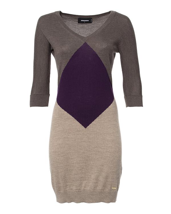платье мини с графичным рисунком и рукавом 3/4 артикул S75CT0934 марки DSQUARED2 купить за 17800 руб.