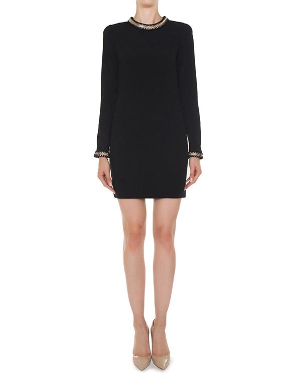 платье из крепа с отделкой  артикул S75CU0597 марки DSQUARED2 купить за 82700 руб.