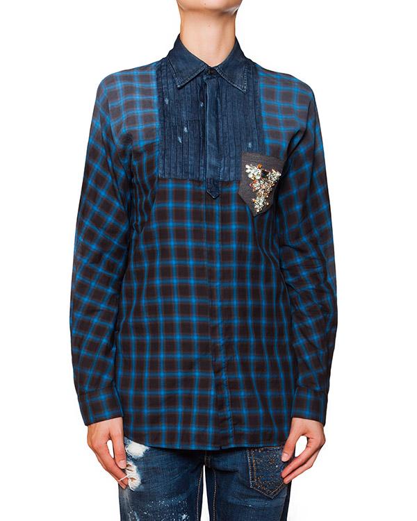 женская рубашка DSQUARED, сезон: зима 2015/16. Купить за 31700 руб. | Фото 1