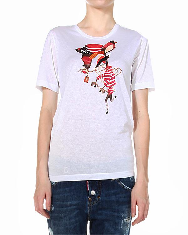 женская футболка DSQUARED, сезон: зима 2014/15. Купить за 8600 руб. | Фото 1